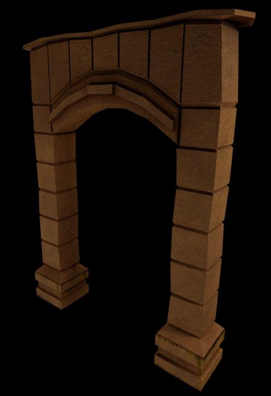 ruins 3d blend