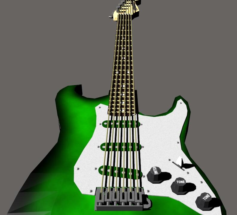 free obj mode electric guitar