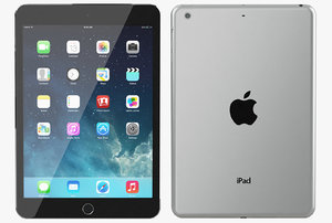 3d apple ipad mini 2 model