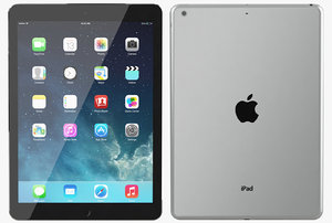 apple ipad air space 3d model