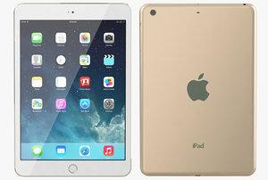 apple ipad mini 3 3d max