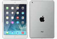 3d apple ipad mini silver