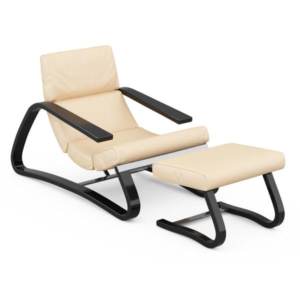 armchair band 3d max