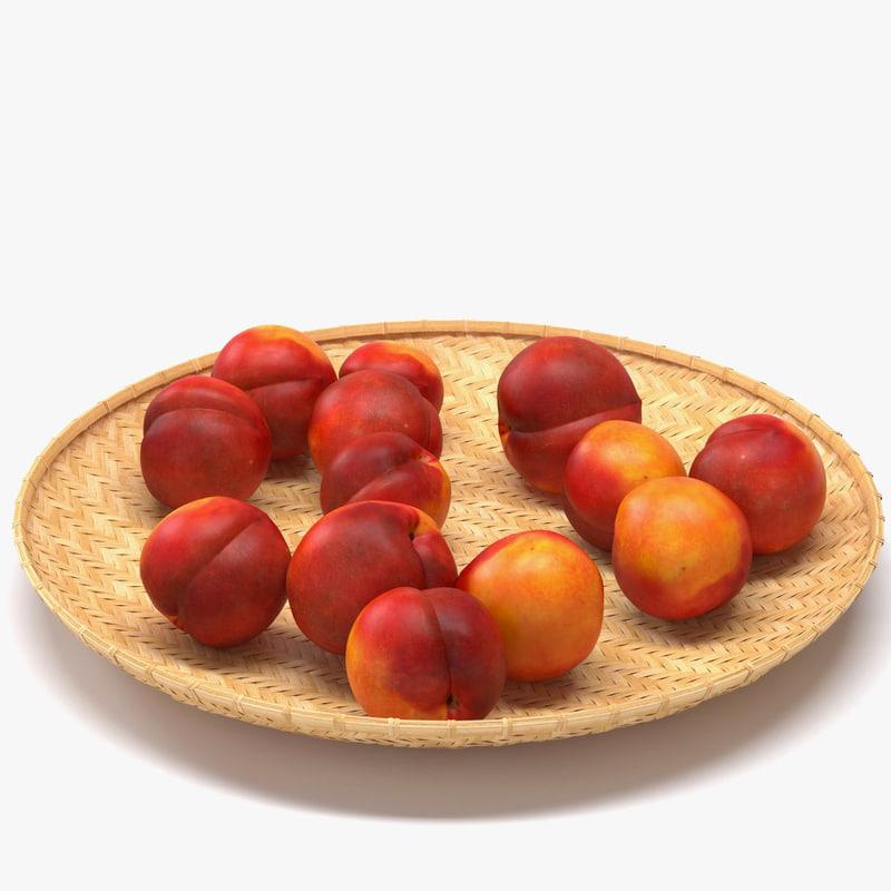 3d peach fruits