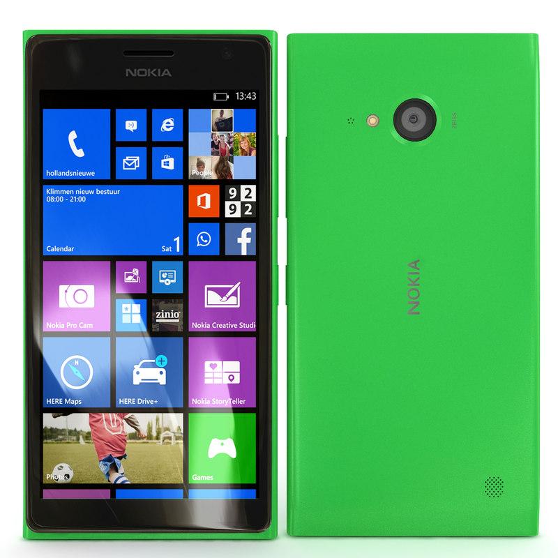 nokia lumia 730 green 3d max