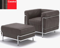 3ds le corbusier lc2 chair