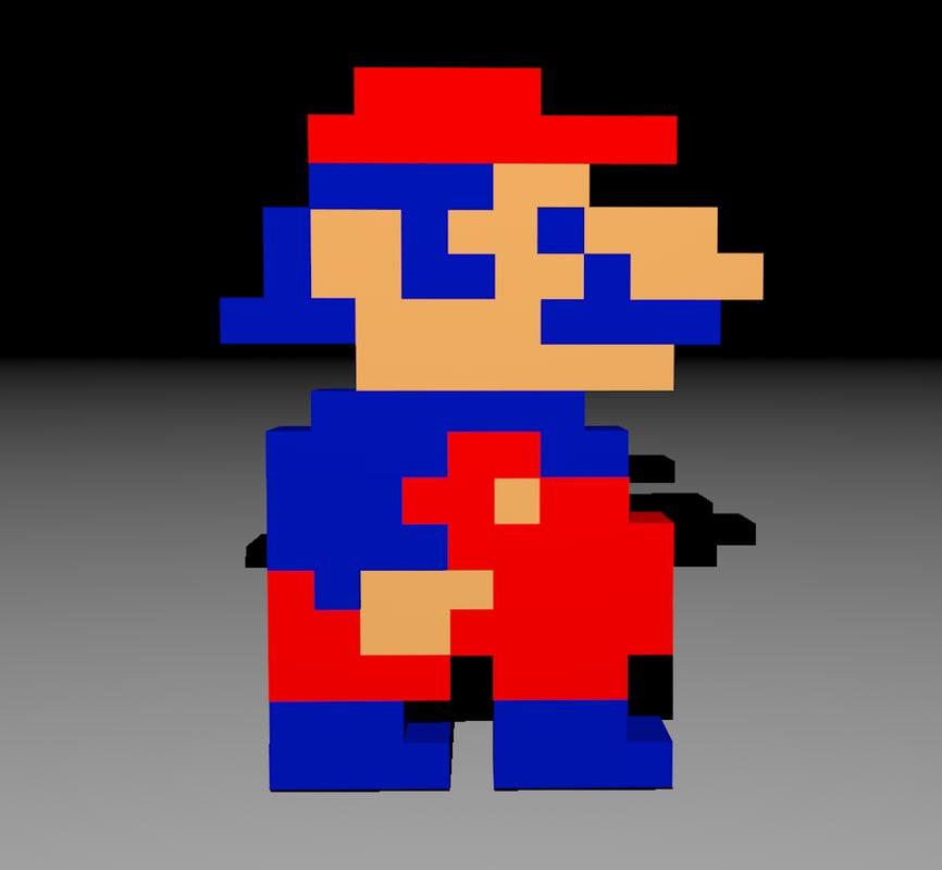 Mario 3d Sprite - 8 bit - retro