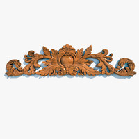 3d wooden cartouche el62 model