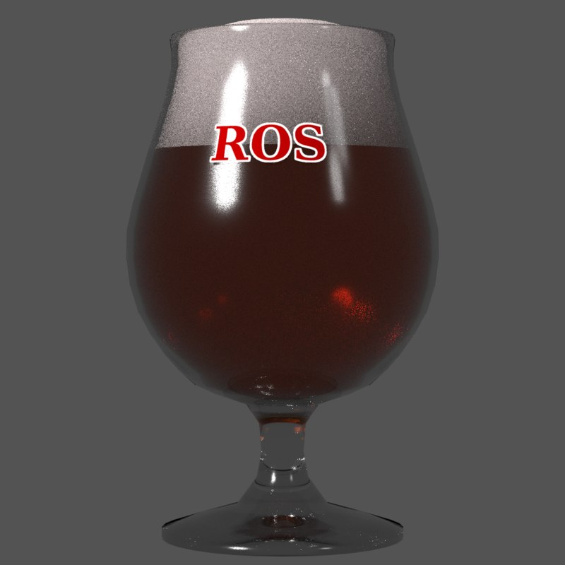 free beer glass tulip 3d model