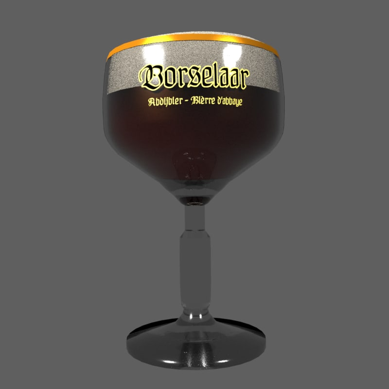 free 3ds model beer glass chalice