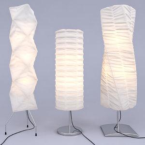 3d model set floor lamps