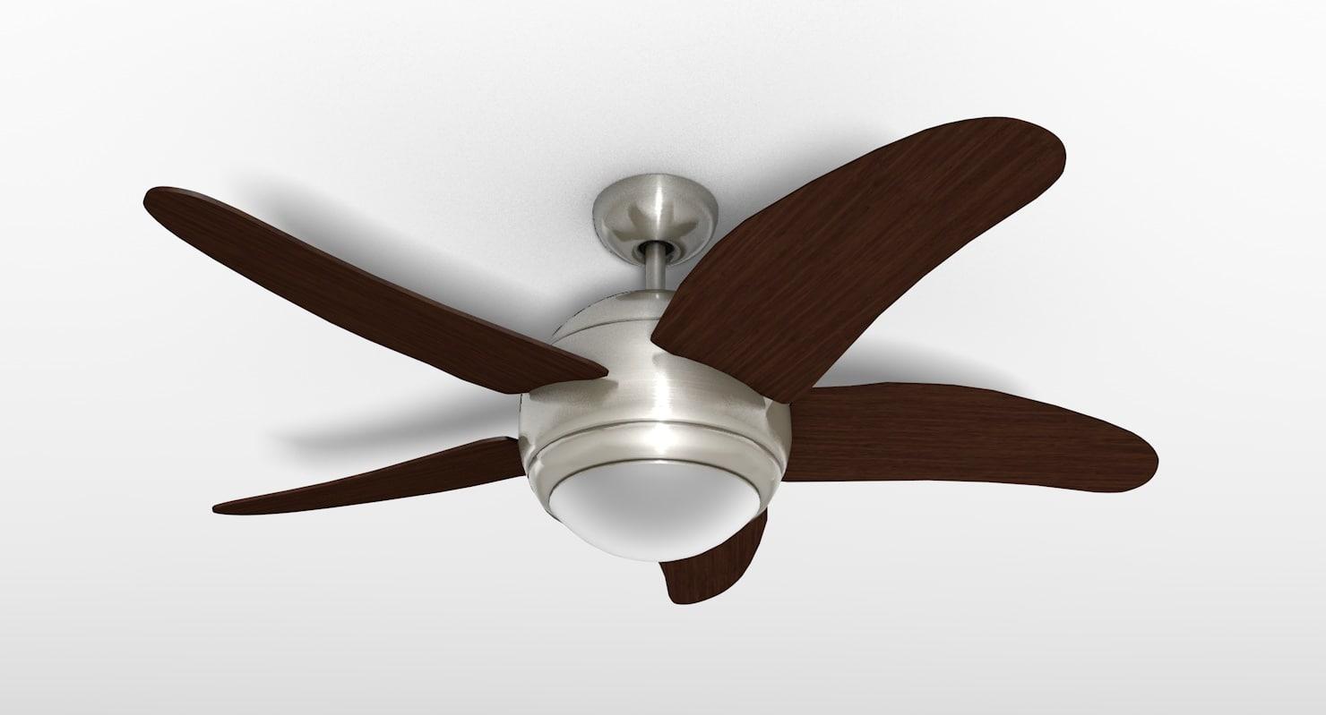 deluxe ceiling fan light c4d