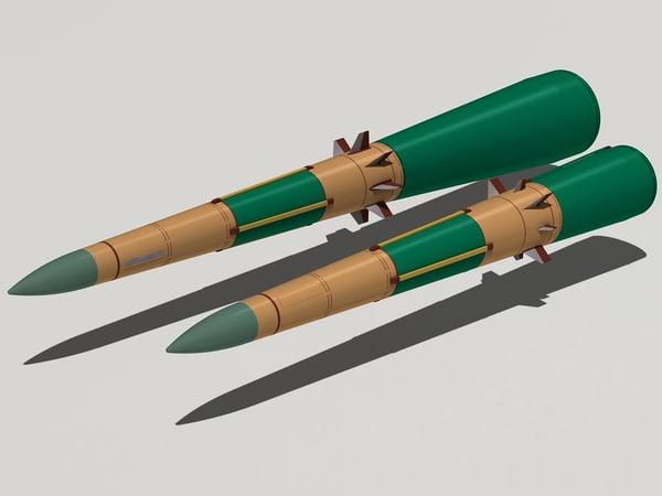 9m83 missiles s-300v 3d model