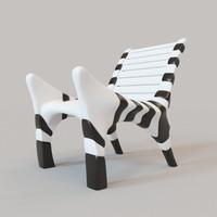 zebra chair 3d model