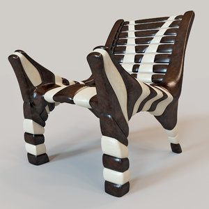 african chair 2 3d max