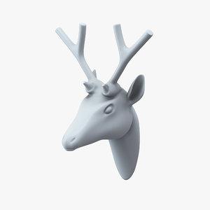 3ds max deer head wall decor