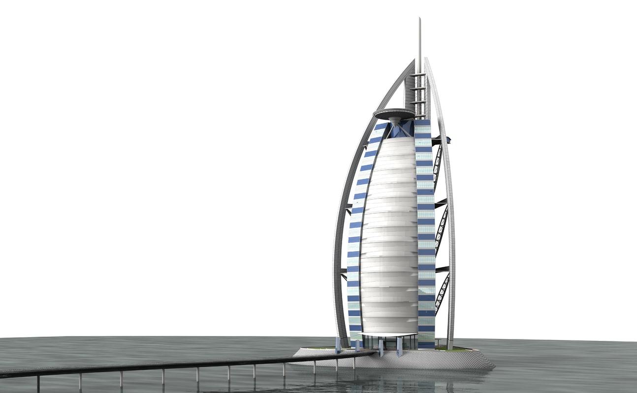 3d Burj Al Arab Model