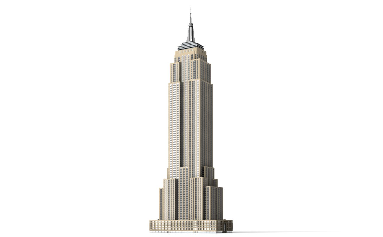 3d model empire state building skyscraper