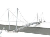 footbridge bridge structure 3d model