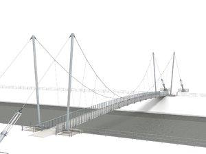 footbridge bridge structure 3d model