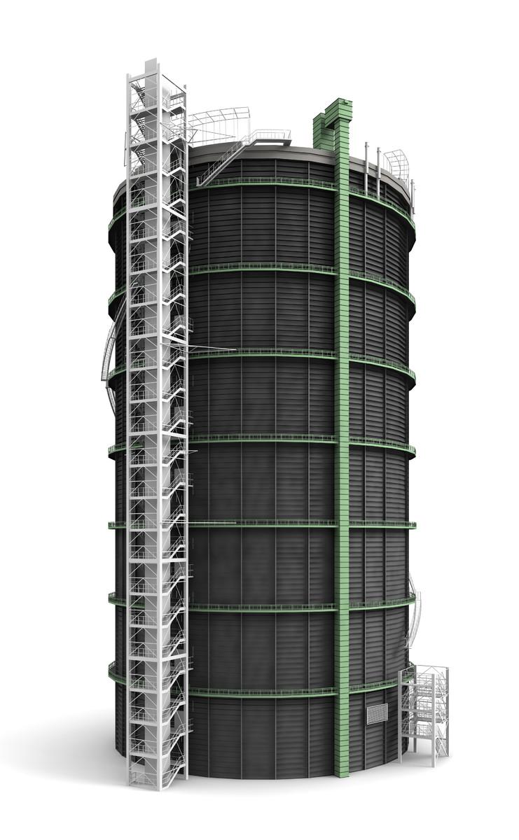 3ds max gasometer industrial monument