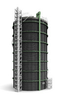 3ds max gasometer industrial monument