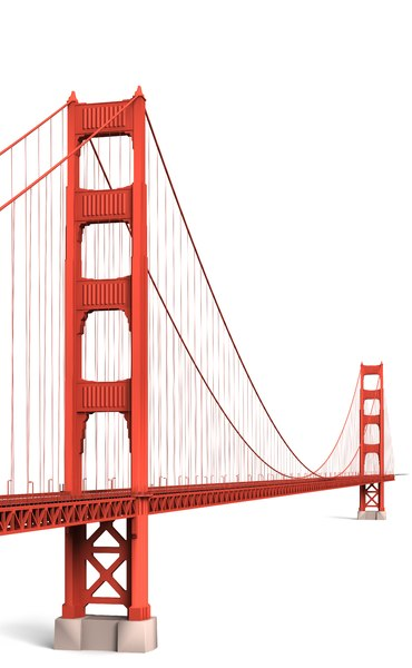 3d model golden gate bridge