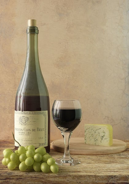 bottle wine grapes cheese max