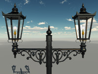 3ds max lamppost victorian lamp post