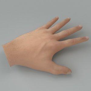 3d human hand