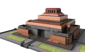 3d lenin s mausoleum model