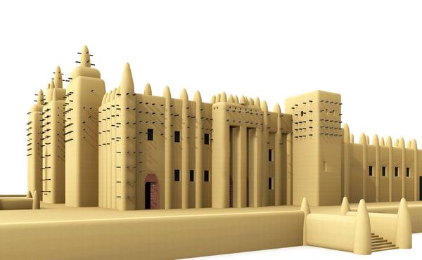 great mosque djenné 3d model