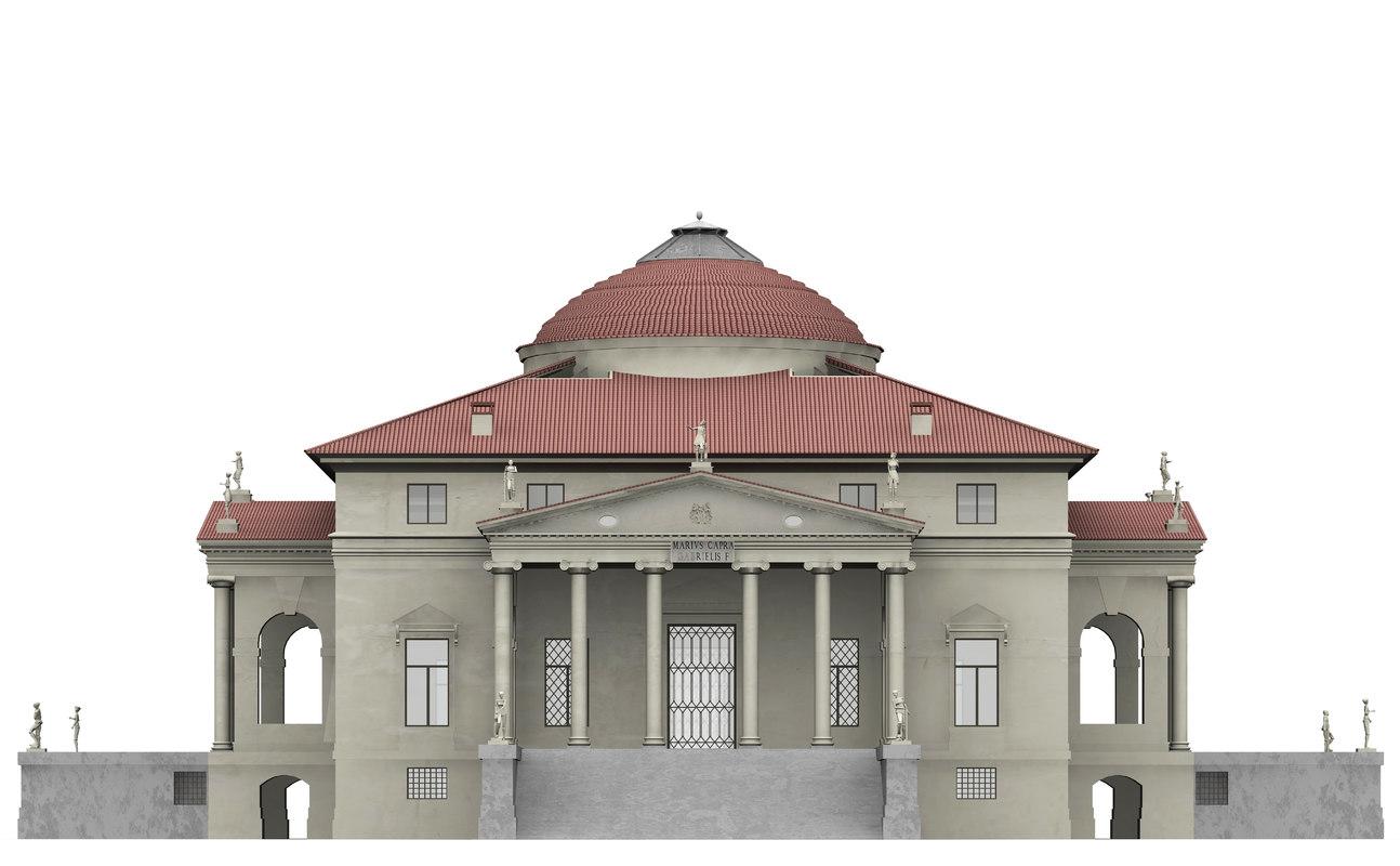 Villa la capra 3d model for Villas 3d model