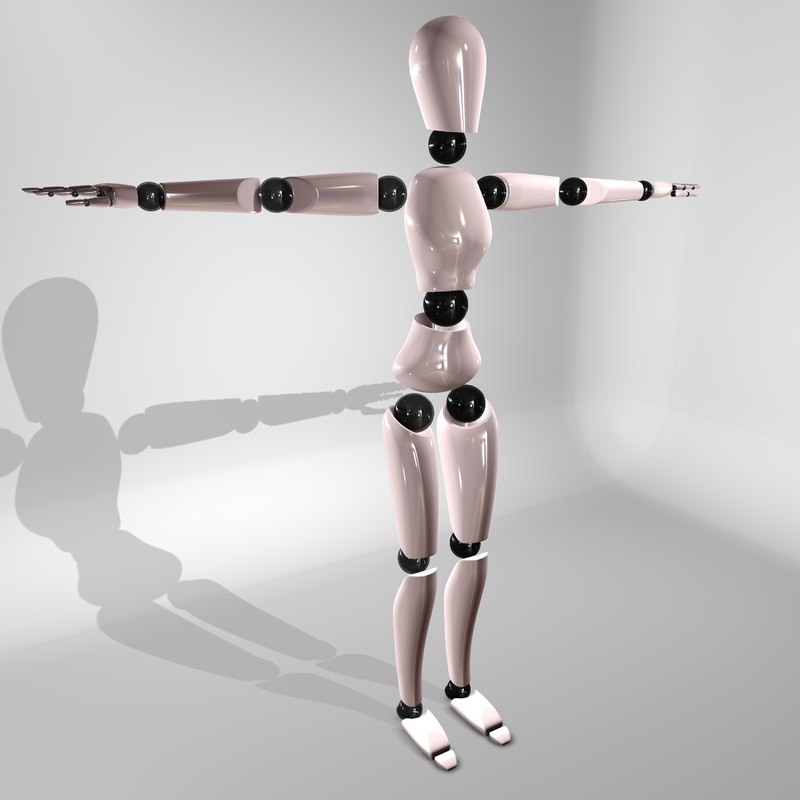 3d model rigged modern mannequin character female