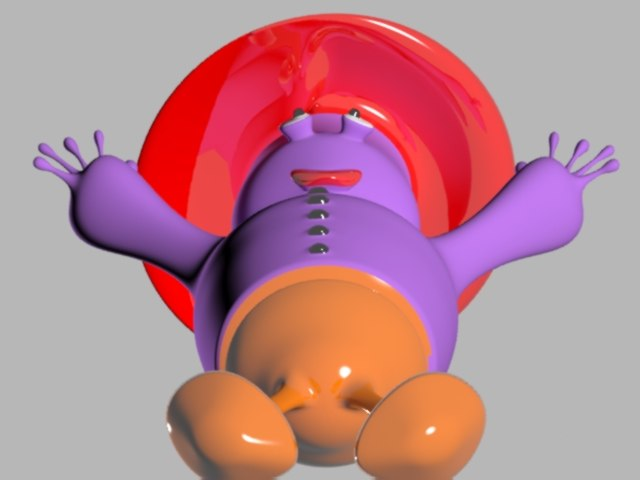 3d french cartoon character model