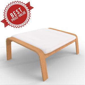 foot stool 3d max