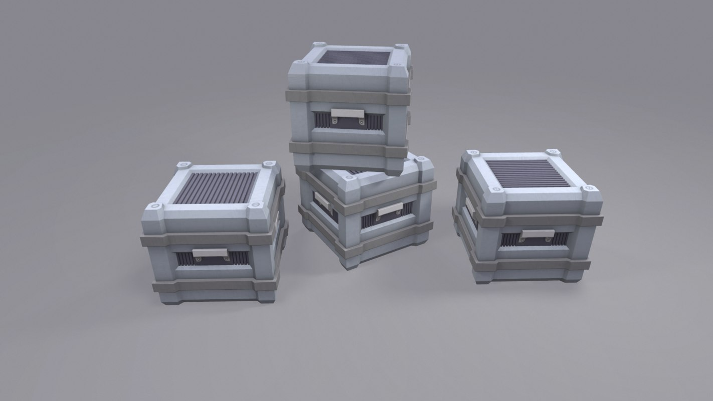 3d model ready sci fi box