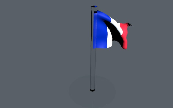 free c4d mode glass french flag