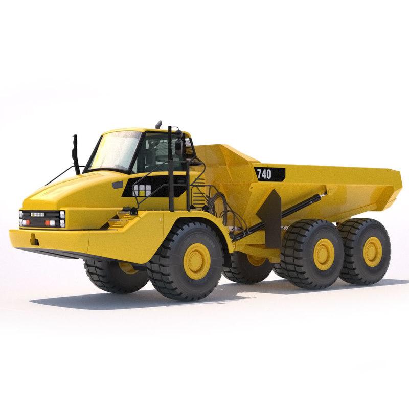 3ds max articulated dump truck