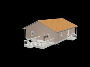 house enterior 3d max