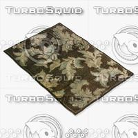 3d model loloi rugs am-02 chocolate