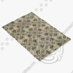 3d model loloi rugs av-02 brown