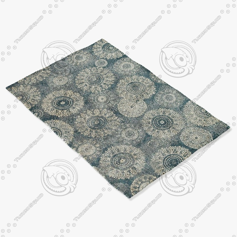 3ds max loloi rugs av-05 charcoal