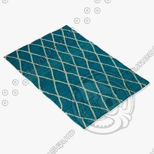 3dsmax loloi rugs aw-01 azure