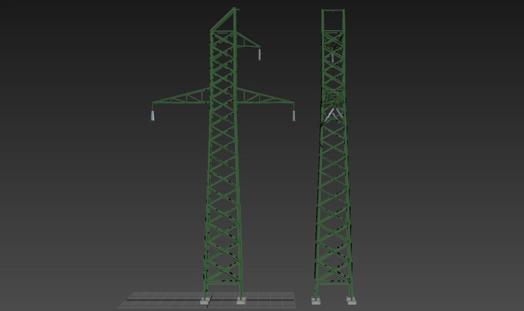 3d tower electrical transmission