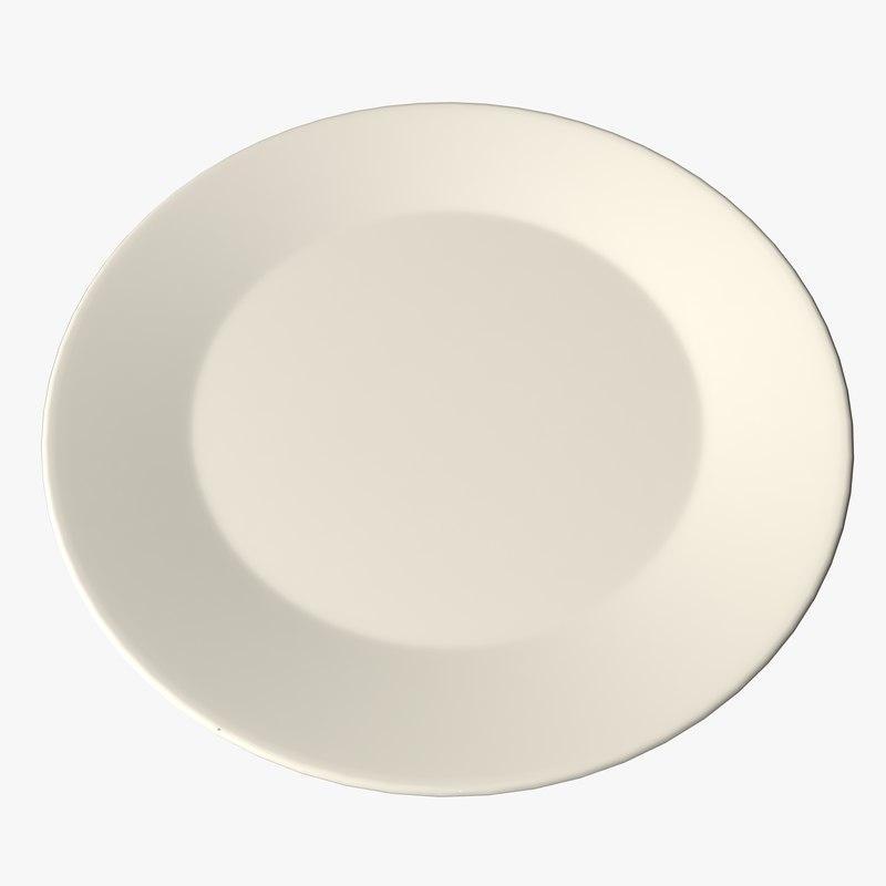 3d breakfast dinner plate