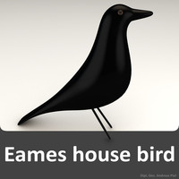 house bird black eames 3d 3ds