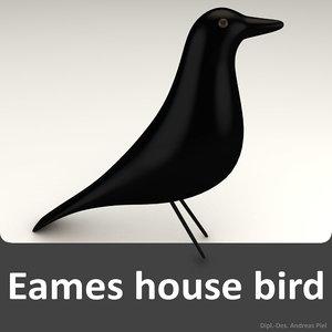 house bird black eames 3d 3ds
