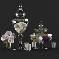 3d decorative set bathroom model