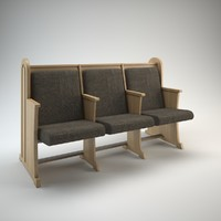 Wooden Pew bench for church / synagogue